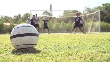 Futbol takım gol puanlama — Stok video