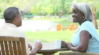 Grandparents Relaxing With Grandchildren — Stock Video