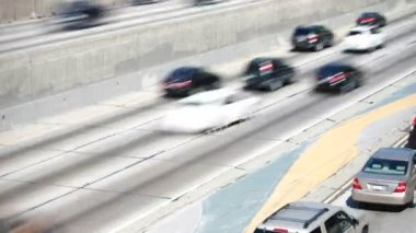 Time Lapse Sequence Of Speeding Traffic On Highway — Stock Video