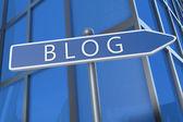 Blog-konzept — Stockfoto