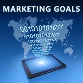 Marketing doelstellingen — Stockfoto