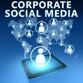 Corporate Social Media — Stock Photo