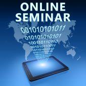 Online Seminar — Stockfoto
