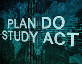 Plan Do Study Act — Foto de Stock