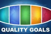 Qualitätsziele — Stockfoto