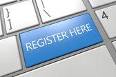 Register here — Stock Photo