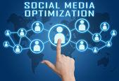 Optymalizacja mediów społecznych — Zdjęcie stockowe