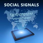 Segnali sociali — Foto Stock