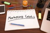 Marketing Goals — Stock Photo