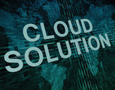 Cloud Solution — Stock Photo