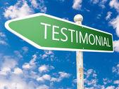 Testimonial — Stock Photo