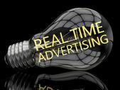 Reálném čase reklama — Stock fotografie