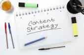 Estratégia de conteúdo — Fotografia Stock