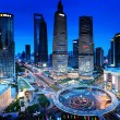 Shanghai night view from the oriental pearl tower — Stock Photo #51894109