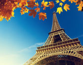 Eiffel tower in autumn time — Zdjęcie stockowe