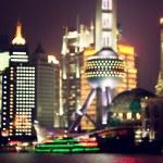 Shanghai at night, China — Stock Photo #54728683