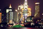 Shanghai at night, China — Stock Photo