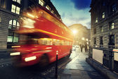 Old bus on street of London — Stock Photo