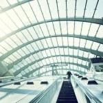 Canary Wharf metro Station, London, England, UK — Stock Photo #54730193