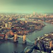 London aerial view with  Tower Bridge in sunset time — Stock Photo #55239191
