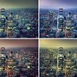 Sunset in city of London, set from colors variation — Stock Photo #55239253
