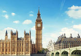 Big Ben in sunny day, London — Stock Photo