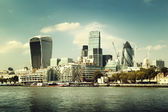 London city skyline from the River Thames — Photo