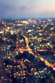 Bokeh (out of focus) night London, view from shard, UK — Stock Photo