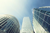 Modern buildings in London, Canary Wharf — Stock Photo