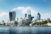 London city skyline from the River Thames — Foto de Stock