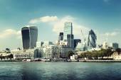 London city skyline from the River Thames — 图库照片