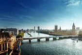 Westminster aerial view, London, UK — Stock Photo
