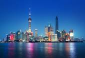 Shanghai at night, China — Stock Photo