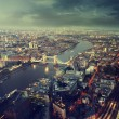 London aerial view with Tower Bridge in sunset time — ストック写真 #62638265