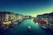 Гранд-канал в время заката, Венеция, Италия — Стоковое фото