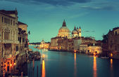 Grand Canal and Basilica Santa Maria della Salute, Venice, Italy — Stock Photo