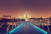 St. Paul Cathedral and millennium bridge, London , UK  — Stock Photo