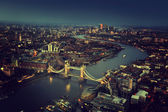 London aerial view with Tower Bridge, UK — Photo