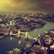 London aerial view with Tower Bridge in sunset time — ストック写真 #63771337