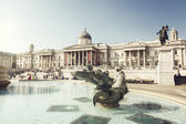 Fountain on the Trafalgar Square, London, UK — Stock Photo
