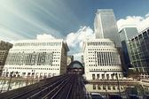 Canary Wharf docklands station in London, UK — Stock Photo