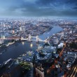 London aerial view with Tower Bridge in sunset time — ストック写真 #65640473