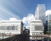 Canary Wharf docklands station in London, UK — Stock fotografie