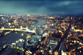 Bokeh of London aerial view with Tower Bridge, UK — Zdjęcie stockowe