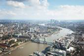 London aerial view with Tower Bridge — Stockfoto