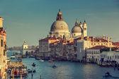 Basilica Santa Maria della Salute in sunset time, Venice, Italy — Stock Photo
