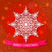 Merry Christmas card and snowflake decoration — Vecteur