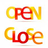 Open and close signs — Stock Vector