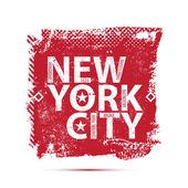 College New York typography, t-shirt — Vector de stock