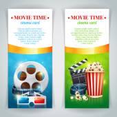 Poster do filme de cinema realista — Vetor de Stock